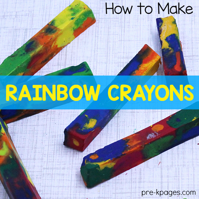How to Make Your Own Rainbow Crayons
