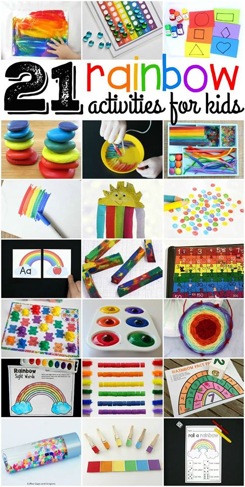 21 Rainbow Kids Activities