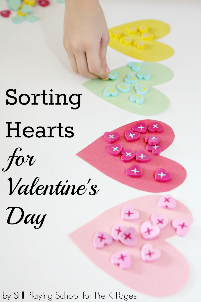 valentine sorting activity pre k pages. Black Bedroom Furniture Sets. Home Design Ideas