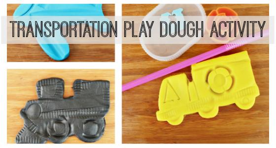 Transportation Play Dough Activity