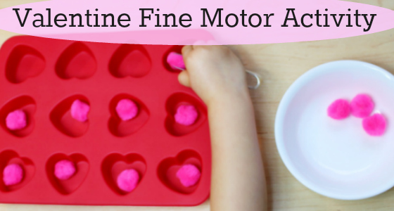 Valentine Fine Motor Transfer Activity