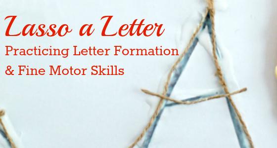 Lasso a Letter: Cowboy Fine Motor Activity