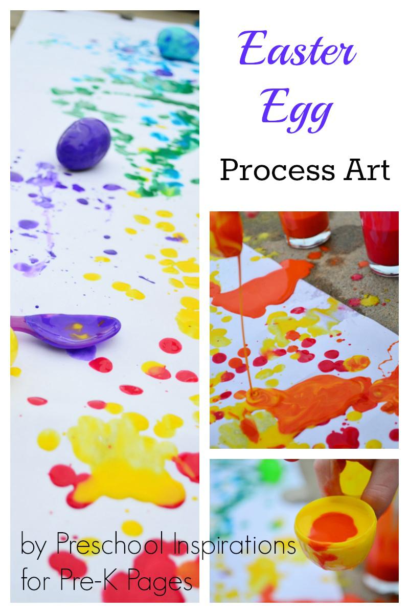 Easter Egg Process Art for preschool