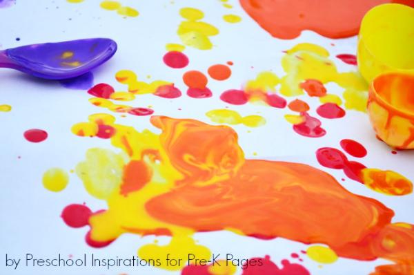 Easter Egg Process Drip Art