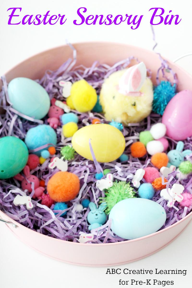 Easter Sensory Bin for preschool