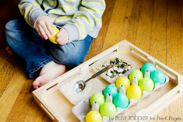 Easter egg transfer activity