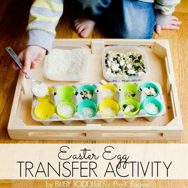 Easter transfer fine motor activitiy