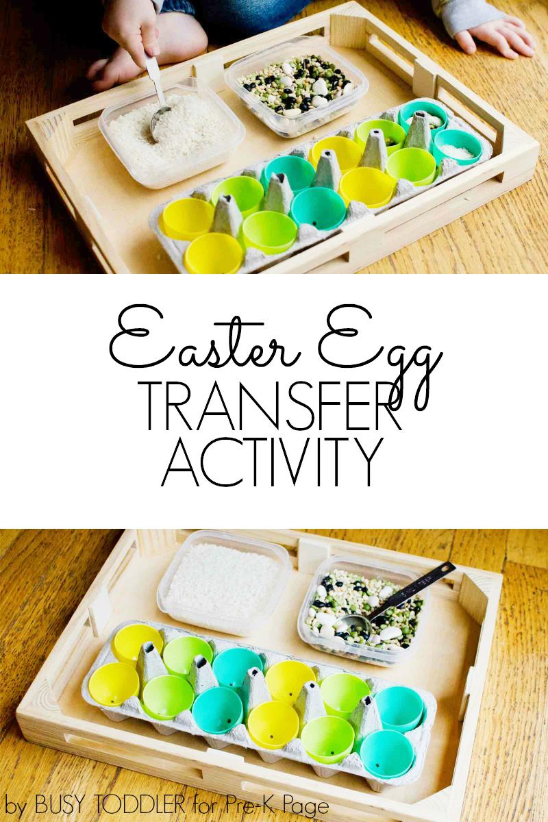 Easter Egg Transfer Activity for preschool
