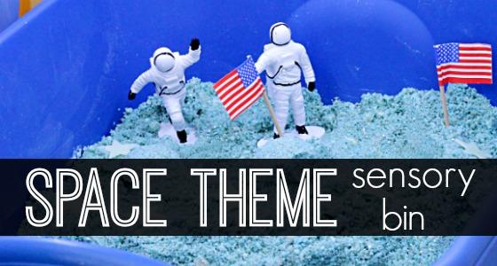 Space Theme Sensory Bin