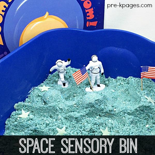 Outer Space Theme Sensory Bin for Preschoolers