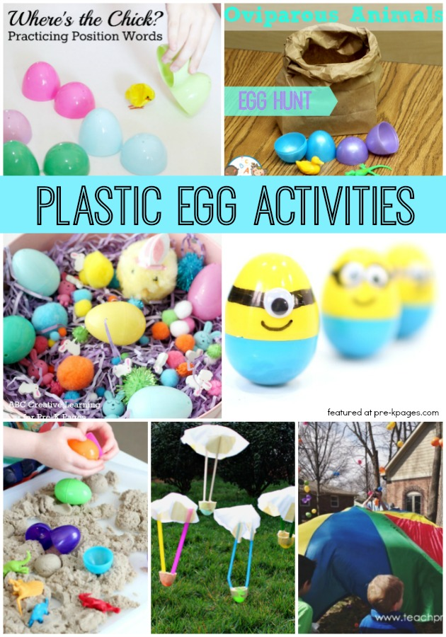 preschool easter activities using plastic eggs pre k pages