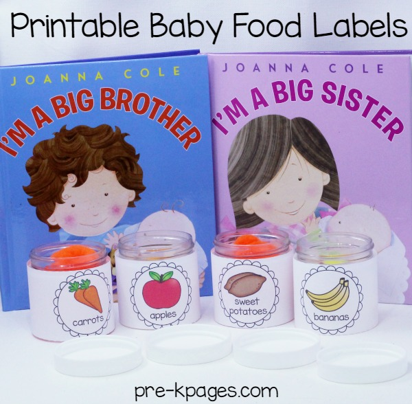 Printable Baby Food Labels for Pretend Play
