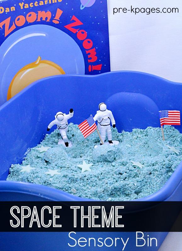 Space Theme Sensory Bin for Preschoolers