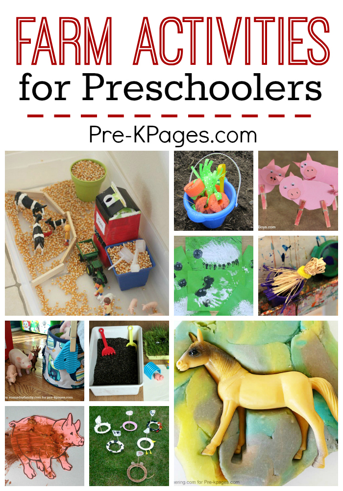 Farm Activities For Preschoolers Pre K Pages