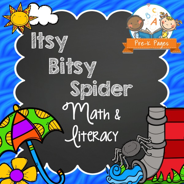 Itsy Bitsy Spider Literacy And Math Pre K Pages