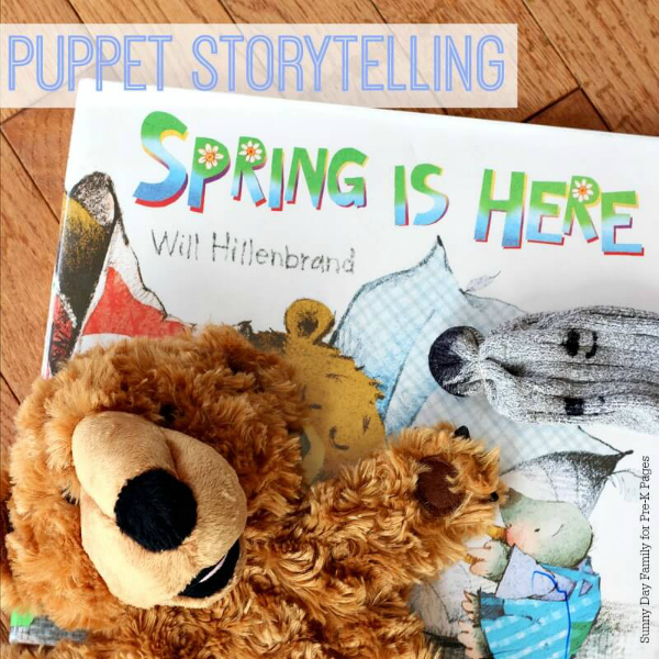 puppet storytelling spring book