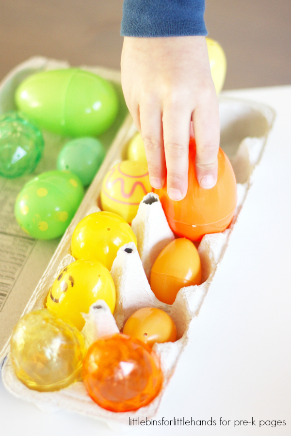 sort eggs by color