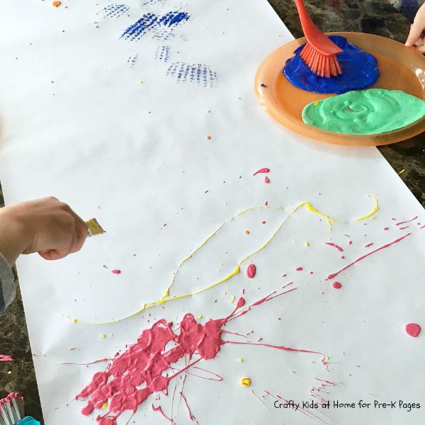 spring splat art painting
