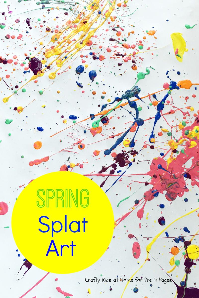 spring splat art preschool