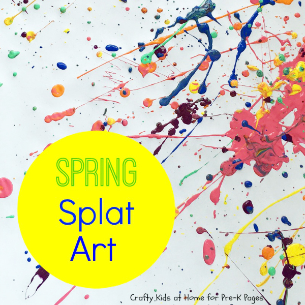 spring splat art for preschool