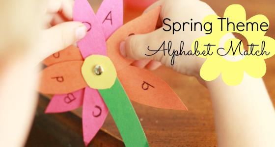 Spring Flower Alphabet Match