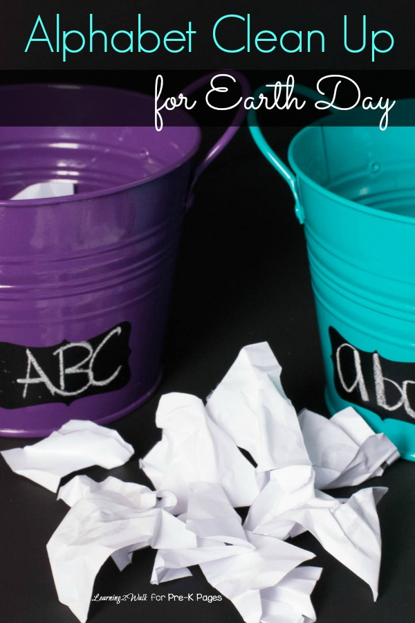 Earth Day Alphabet Clean Up Activity for Preschool
