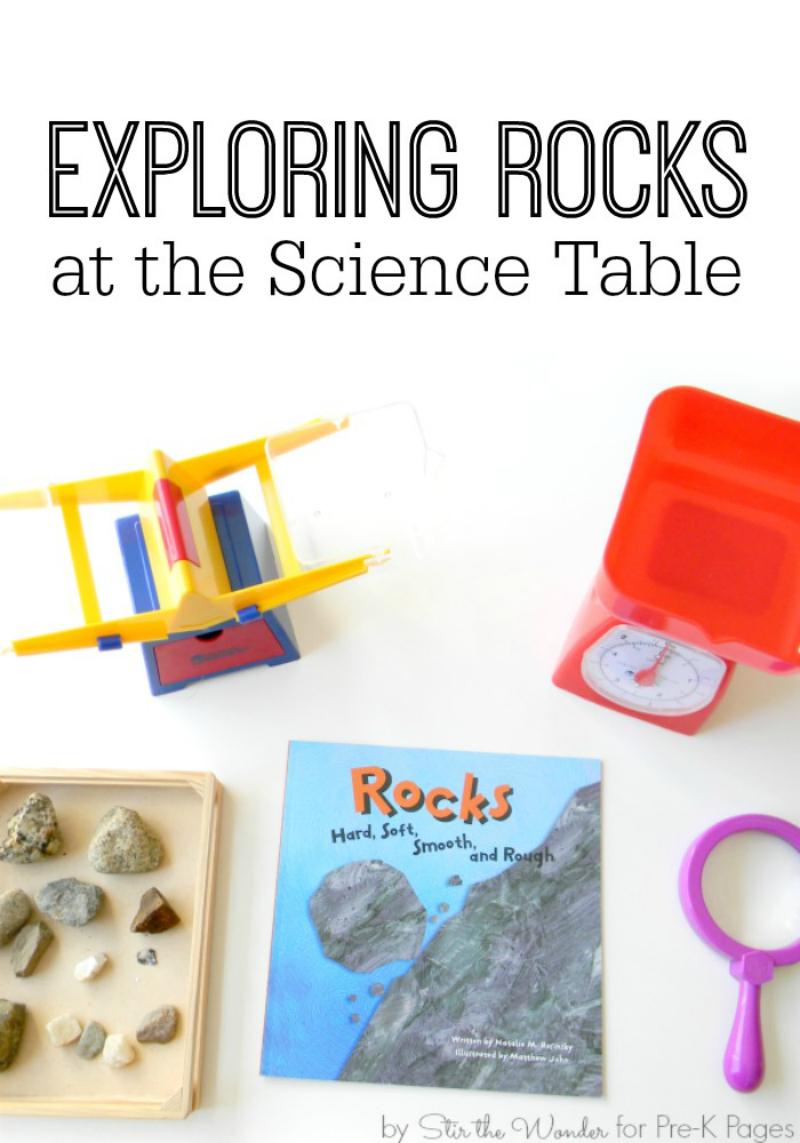 Exploring Rocks for preschool science