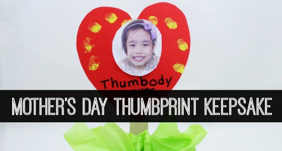 Mother's Day Thumbprint Keepsake