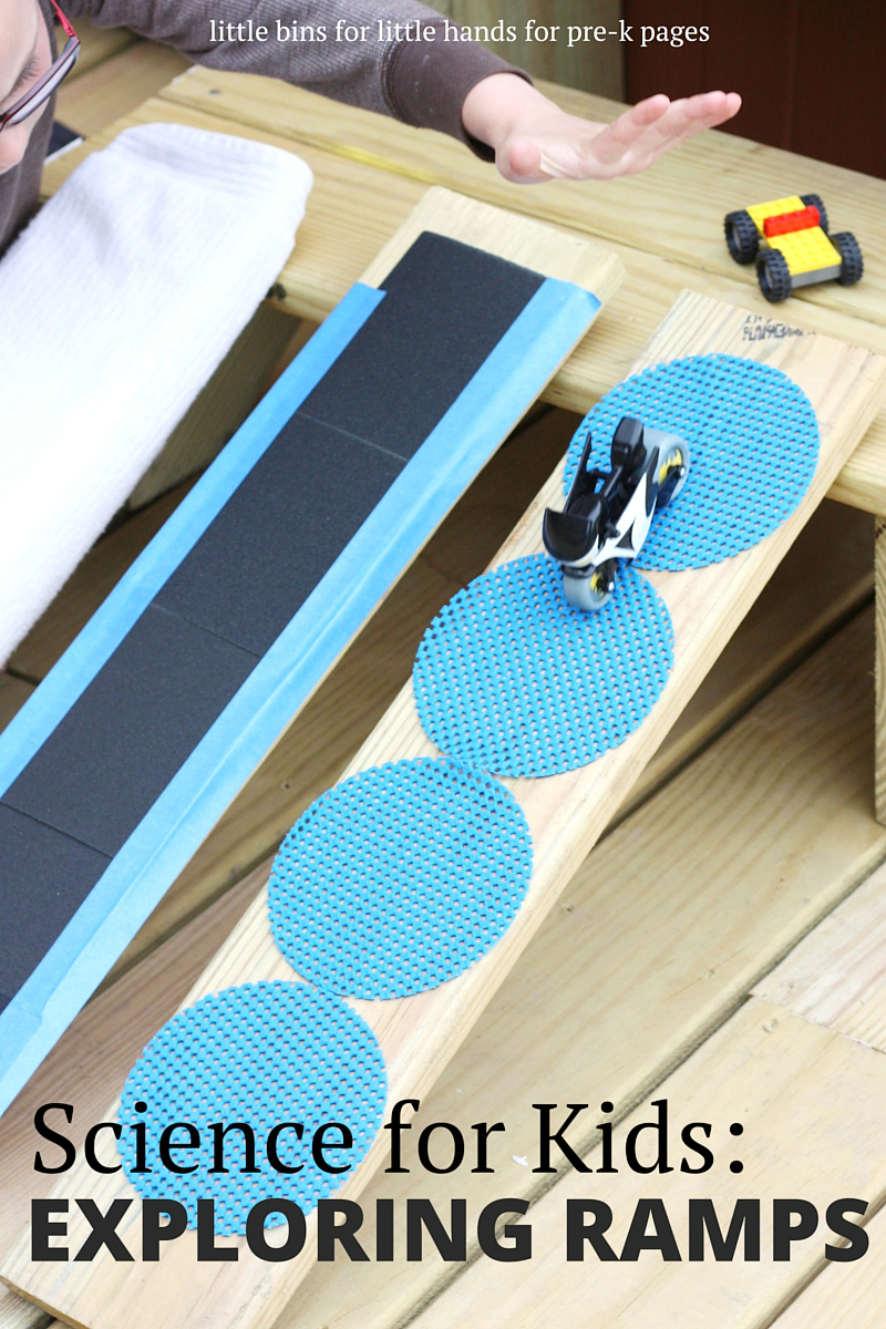 Mats For Under Cars >> Science for Kids: Exploring Ramps and Friction - Pre-K Pages