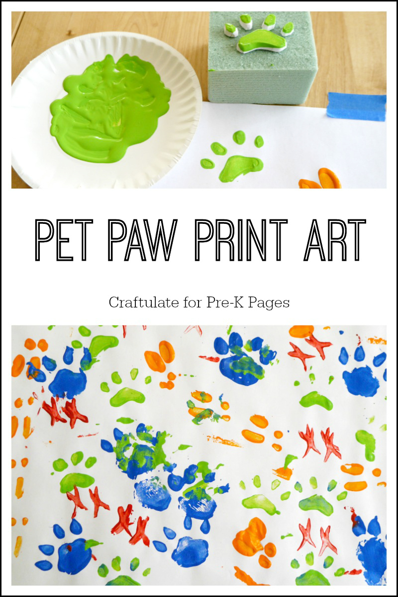 Pet Paw Print Art on Pet Day Care Floor Plan