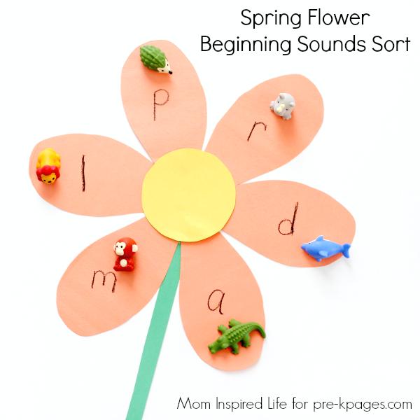spring beginning sounds activity