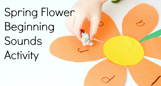 beginning sounds spring activity