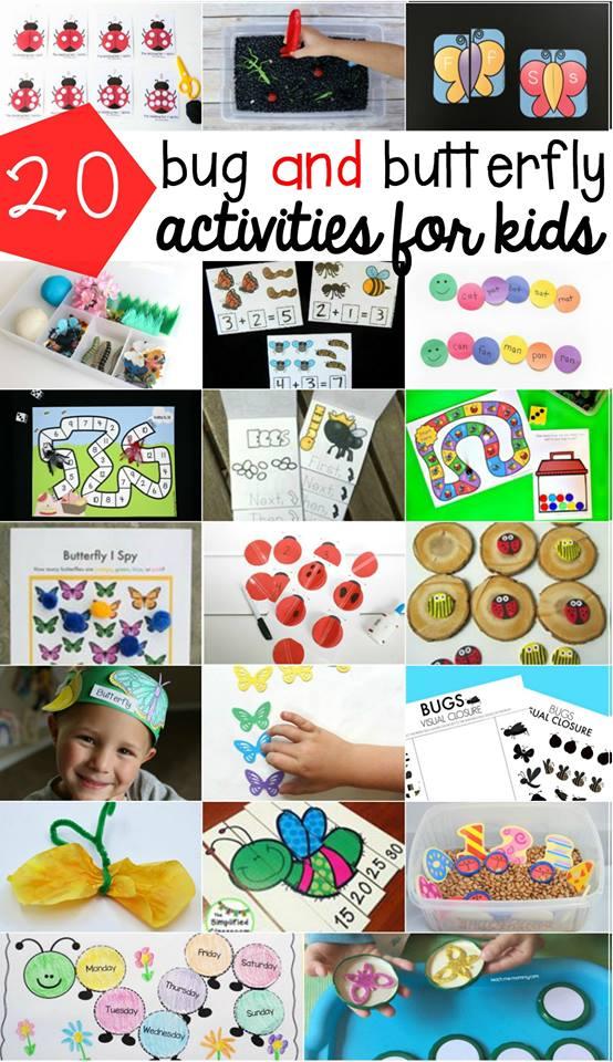 Bug Activities for Kids Roundup
