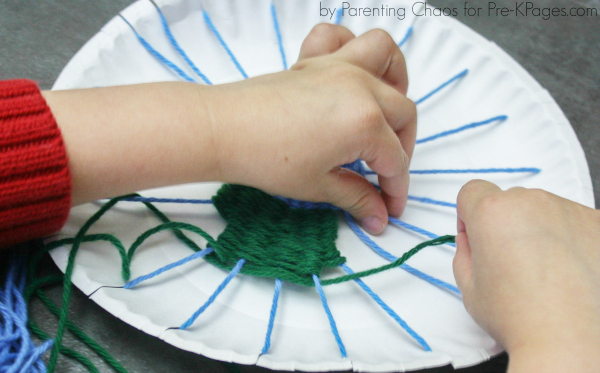 fine motor earth day weaving & Earth Day Paper Plate Weaving - Pre-K Pages