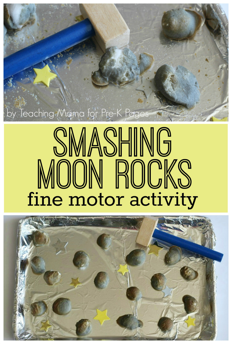 Moon rocks fine motor activity pre k pages for Fine motor activities for kindergarten