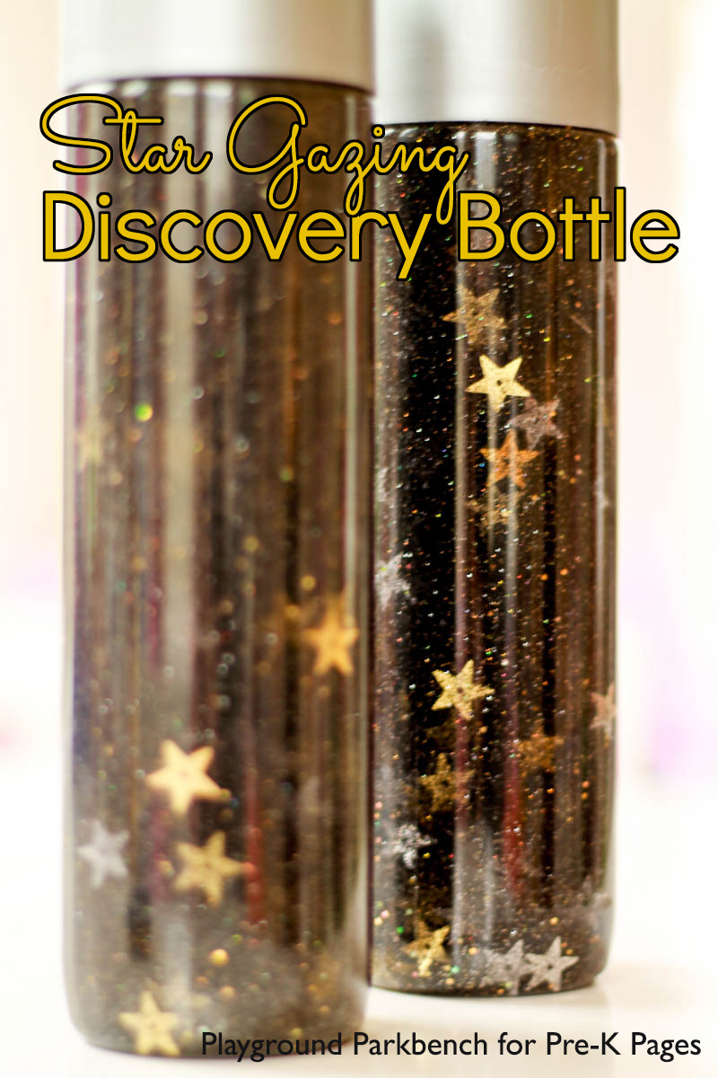Star Gazing Discovery Bottle for preschool