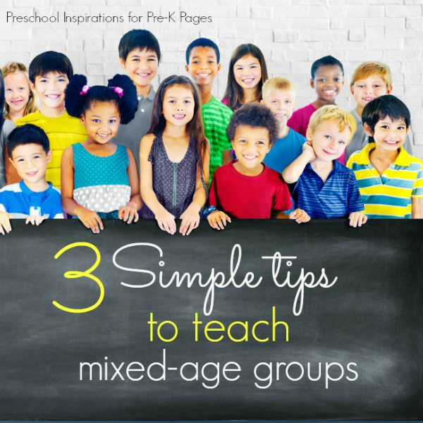 multiple age groups in preschool classroom