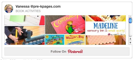 Book Activities Pinterest Board