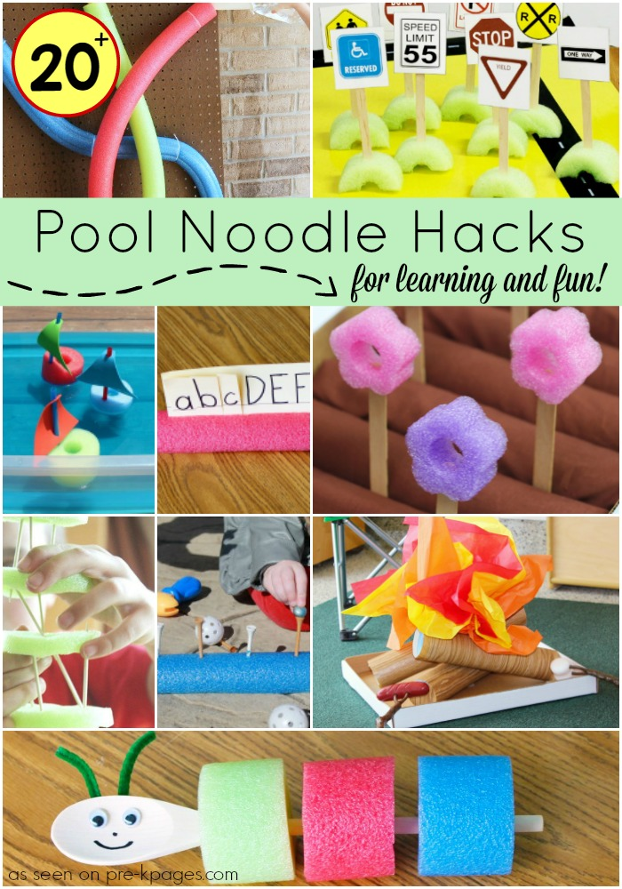 20 Ideas for Pool Noodles PreK Pages