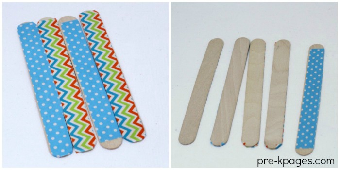 Popsicle Sticks with Washi Tape Easy DIY Games for Kids to Play with Craft Sticks
