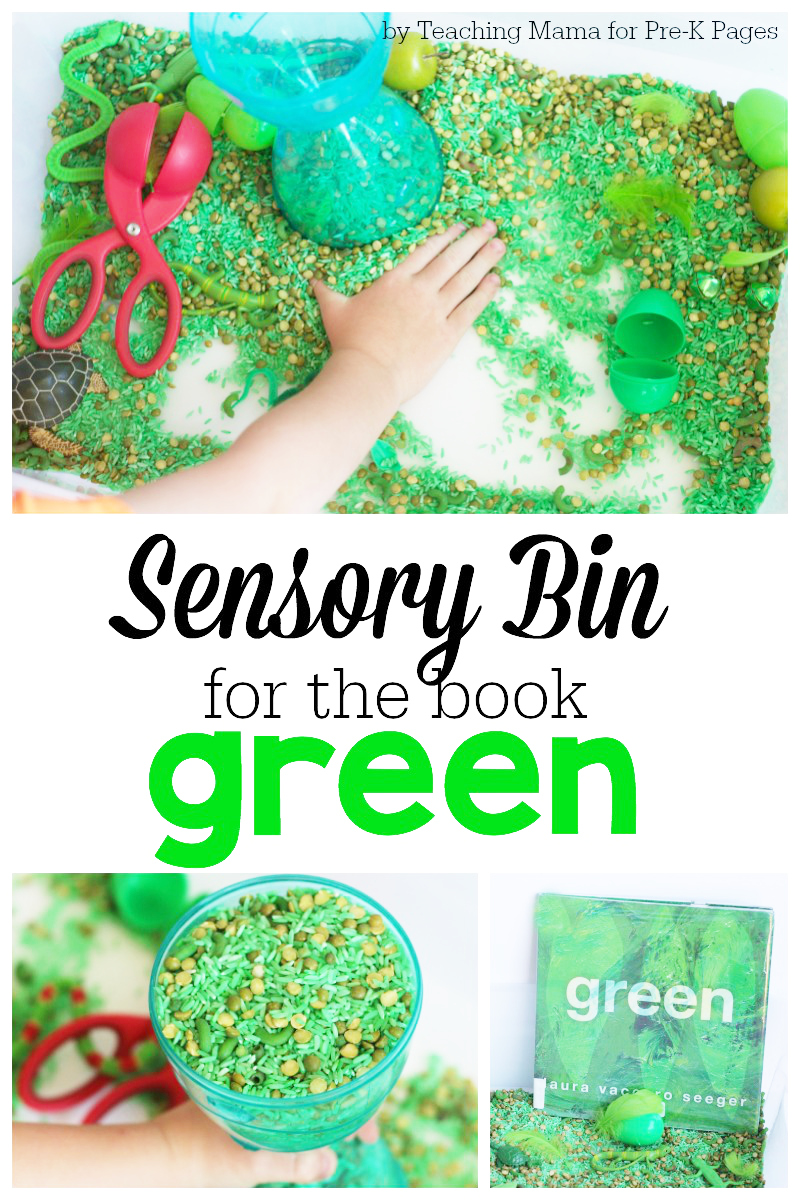 Green: One Color Sensory Bin - Pre-K Pages