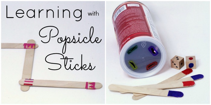 Make Learning Activities for Kids with Craft Sticks