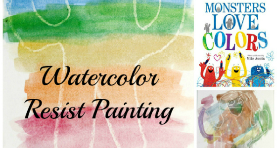 Monsters Love Colors: Watercolor Resist