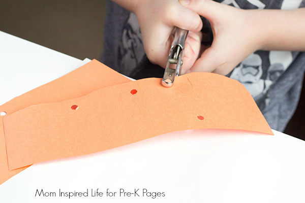 hole punch shapes activity art
