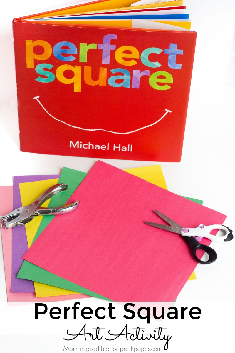 Perfect Square Art Activity for preschool