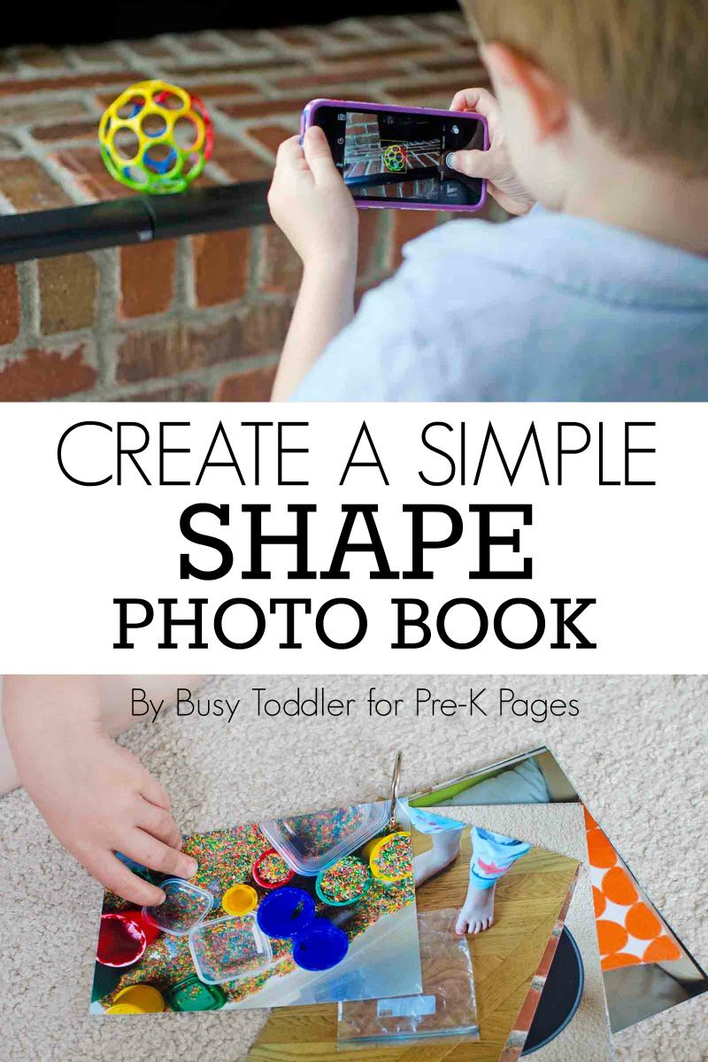 shape photo book for preschool