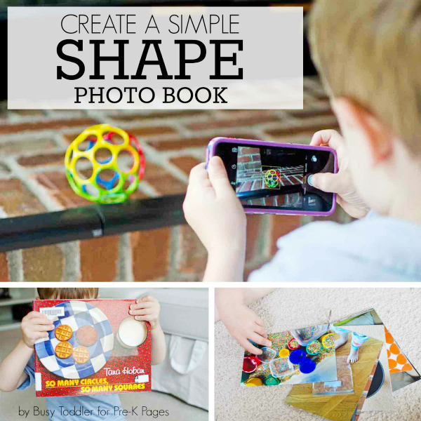 homemade shape book for prek