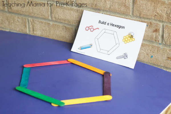 Building Shapes With Craft Sticks Pre K Pages