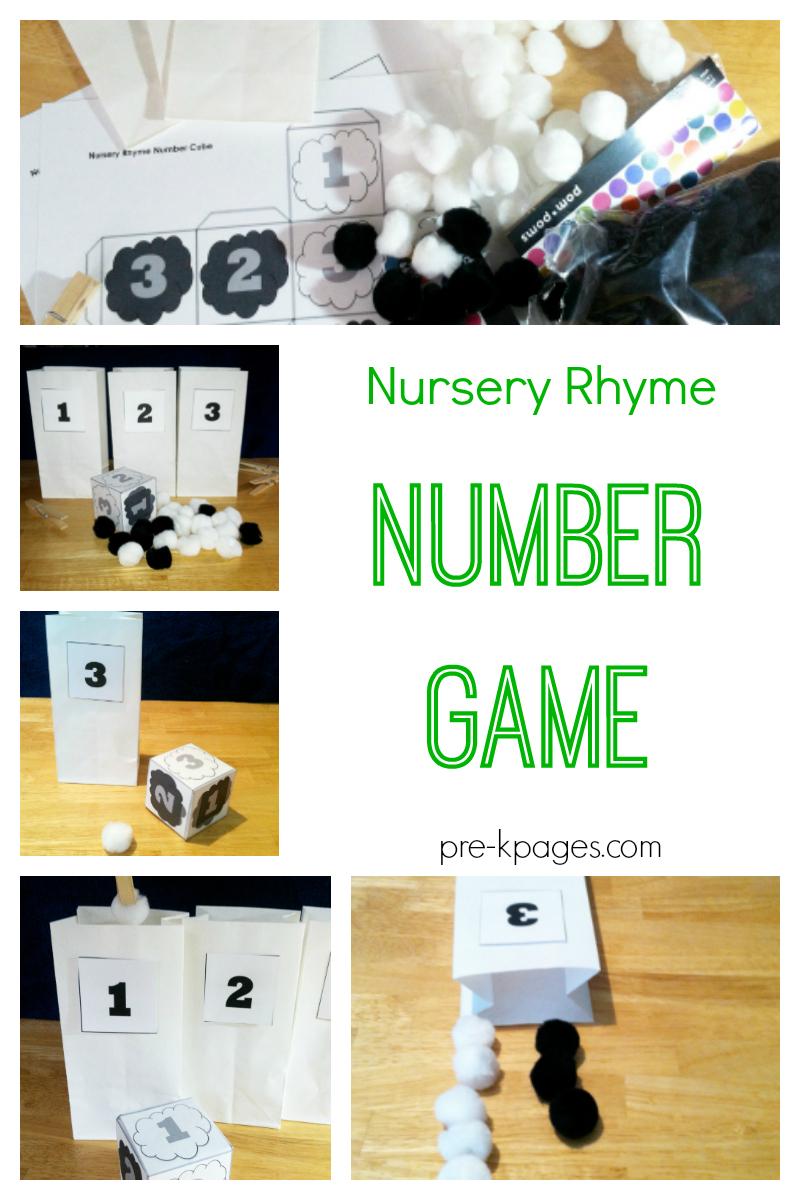 Nursery Rhyme Number Game - Pre-K Pages