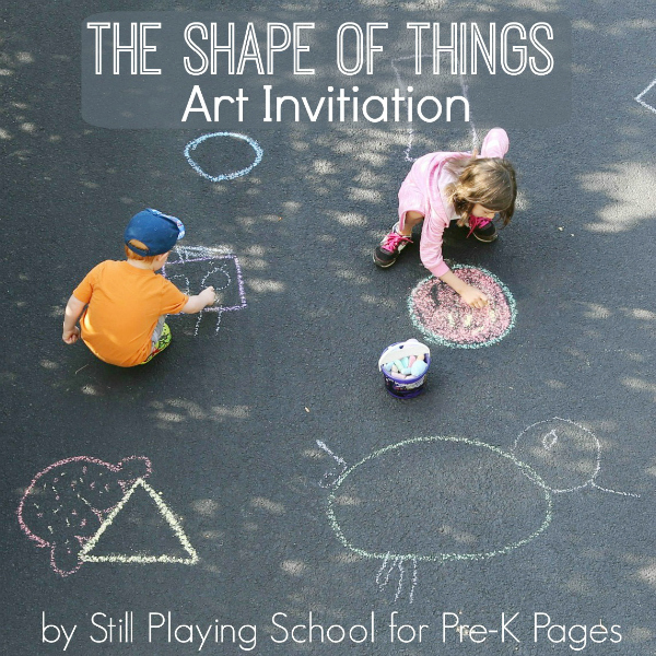 shapes art activity outdoors